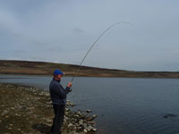 Fish on! - Barden Reservoir