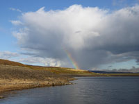 Rainbow at Barden Reservoir